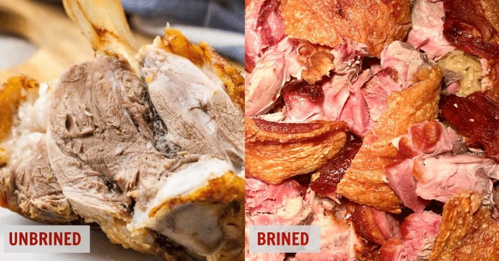 Lion's Head Restaurant and Brewery Best pork Knuckle brined vs un-brined